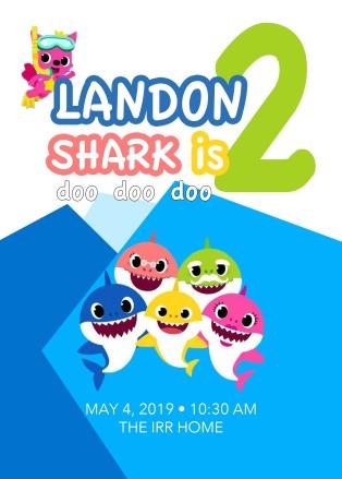 Landon 2nd Birthday Invite