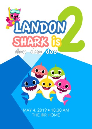 Landon 2nd Birthday Invite